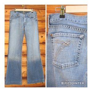 7 For All Mankind Dojo Wide Leg Jeans 28 x 33